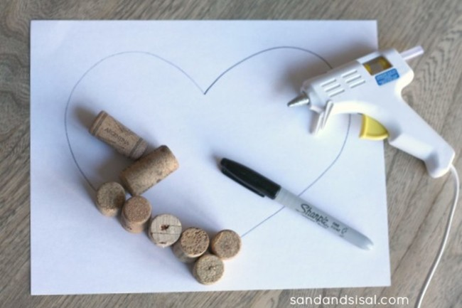 Make A Cork Heart