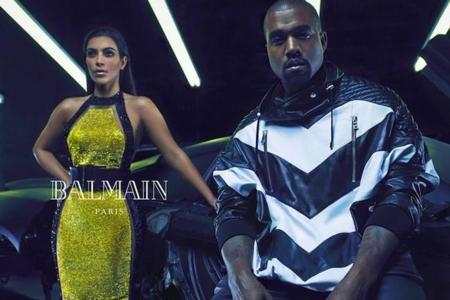 Kim Kardashian Kanye West Balmain Full Ad Campaign 2