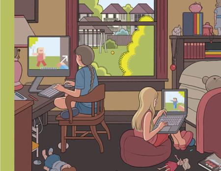 ¿Es cada vez más habitual lo que muestra esta portada del New Yorker, muere el juego sin pantalla?