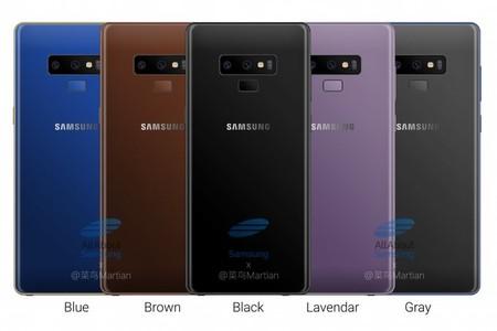 Los colores del Note 9