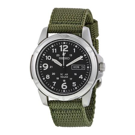 mejor servicio df39f b28d5 El reloj de pulsera solar para hombre Seiko SNE095P2 está al ...