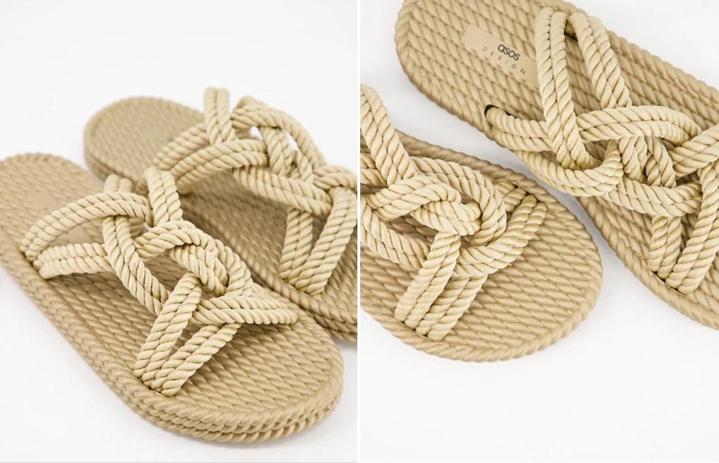 Sandalias planas de cuerda