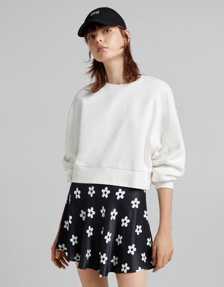 Falda mini satinada print