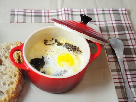 Huevos Cocotte Morilles