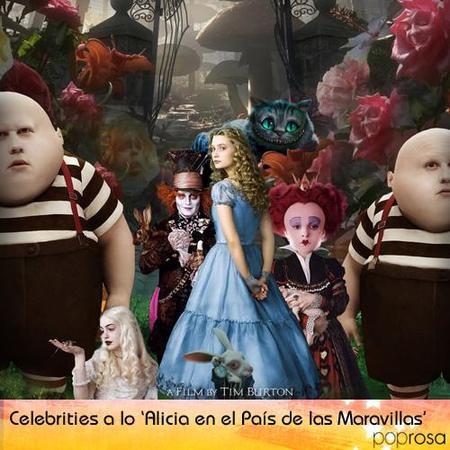 Las celebrities a lo 'Alicia en el País de las Maravillas'