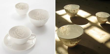 Delicadas piezas de cerámica