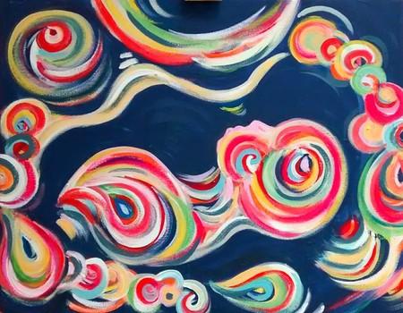 Una madre convierte las ecografías en preciosas pinturas abstractas