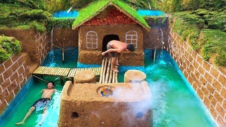 """YouTube se ha llenado de piscinas alucinantes hechas a mano: la fiebre de la """"tecnología primitiva"""""""