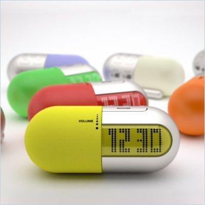 El reloj-píldora de diseño
