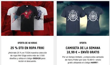 Ofertas en camisetas frikis en Zavvi: estrena este verano ahorrando de varios modos