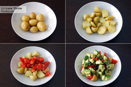 Ensalada de Patata y Aguacate. Pasos
