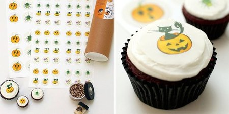 Pegatinas comestibles de Halloween para decorar cupcakes