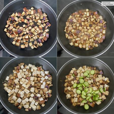 Tofu Berenjena Cacahuetes Pasos