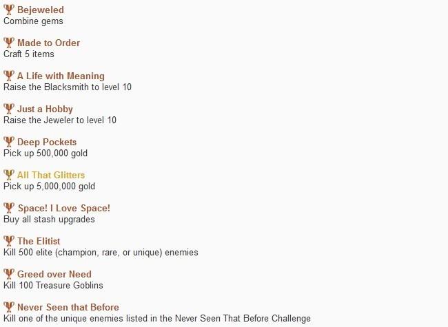 Trofeos de Diablo III