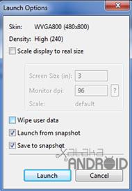 Usando el SDK: dispositivos virtuales y emulador