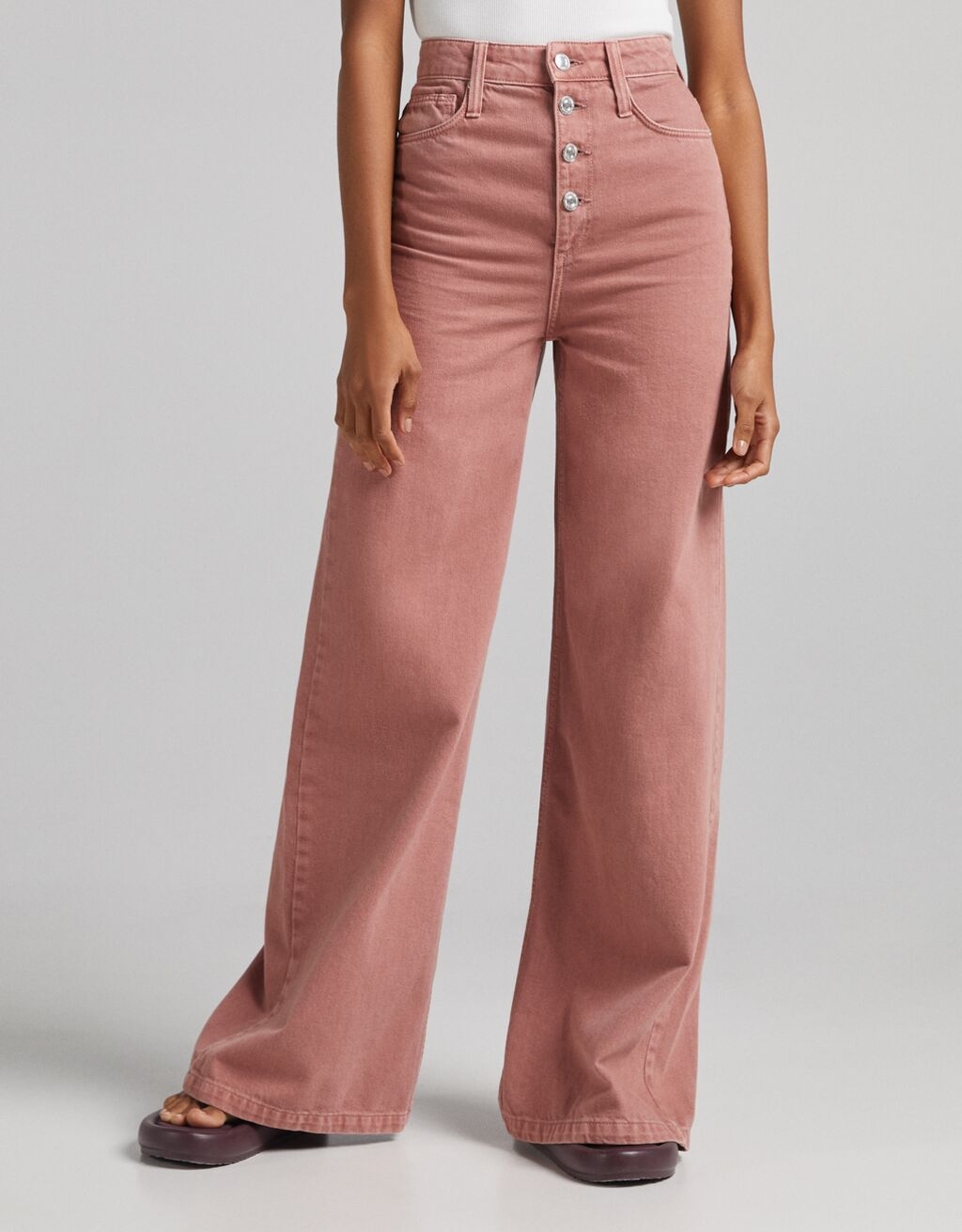 Pantalón sarga super wide leg
