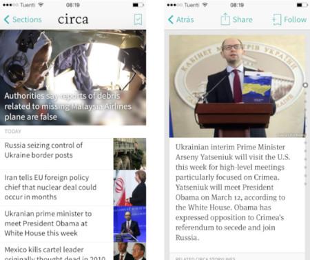 Circa, un lector móvil de noticias que te resume lo más importante de cada asunto