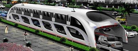 China prepara el autobús a horcajadas