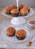 """Mini cupcakes """"dónut"""". Receta"""