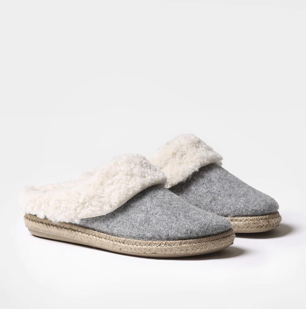 Zapatillas de casa de mujer Toni Pons hechas en fieltro color gris