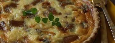 Quiche de calabaza, membrillo y gorgonzola,  receta