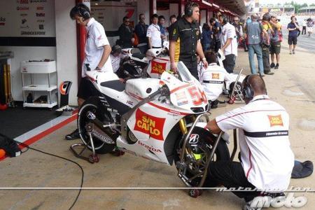 Equipo Gresini Racing MotoGP en parrilla