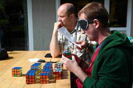 Cubo Rubik a ciegas