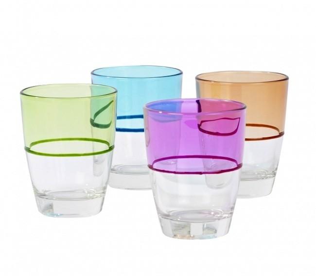 Bueno bonito y barato low cost para vestir la mesa - Vasos de colores ...
