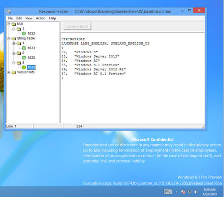 Windows RT 8.1 Leak