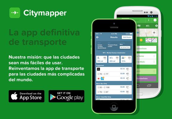 Citymapper la guía turística perfecta