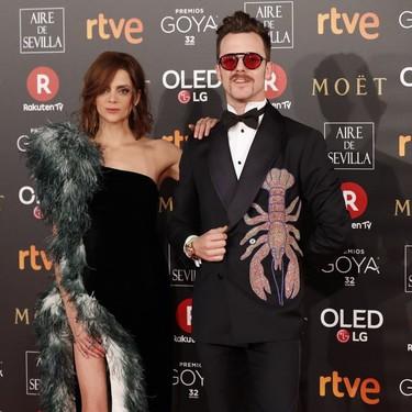 Aldo Comas le suma un divertido detalle a su look para los Premios Goya 2018