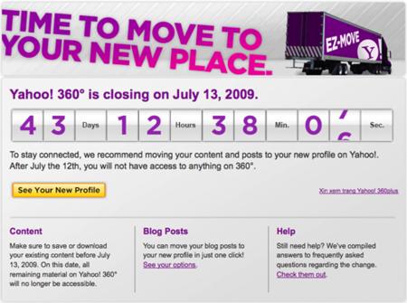 Yahoo! 360º cierra sus puertas