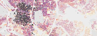 El envejecimiento de las ciudades, ilustrado en estos fantásticos mapas a través de sus edificios