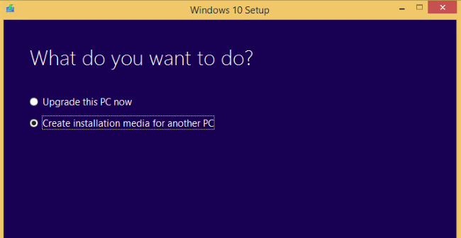Windows 10(diez) Media Creation Tool