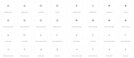 """Esta bonita colección de más de 200 iconos minimalista SVG """"hechos a mano"""" tiene licencia libre"""