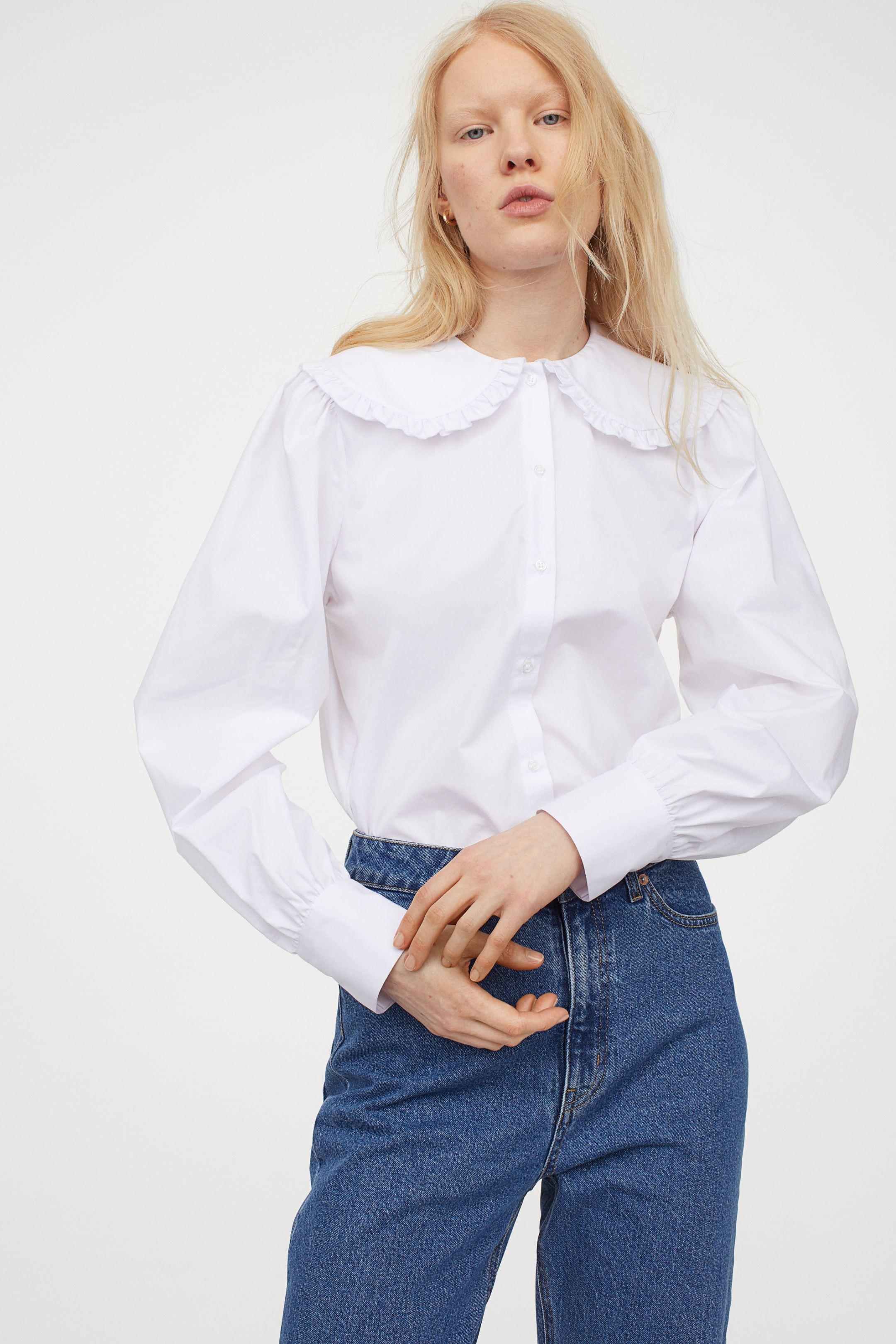 Camisa de cuello bobo
