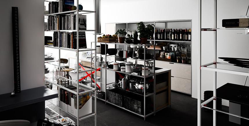 Foto de Meccanica, un sistema de almacenaje muy versátil y minimalista (14/21)
