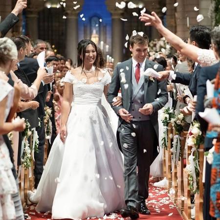 Así ha sido la ceremonia de la boda religiosa de Louis Ducruet, hijo de Estefanía de Mónaco, y Marie Chevallier
