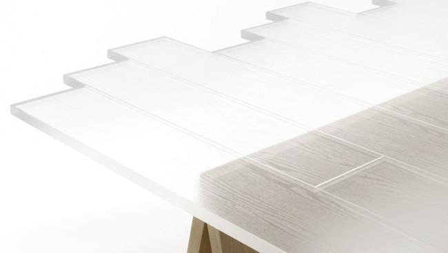 Nendo Transparent Table Lede