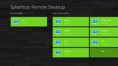 Splashtop Remote Desktop lista para Windows 8
