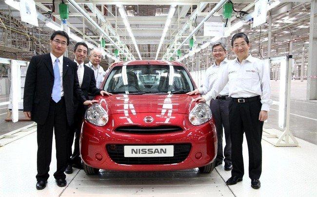 Produccion del Nissan Micra