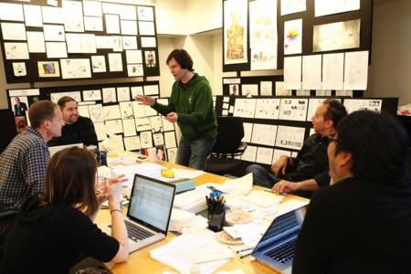 Bill Hader con los creadores de la película