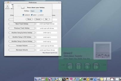 QuickTunes, otro control remoto para iTunes