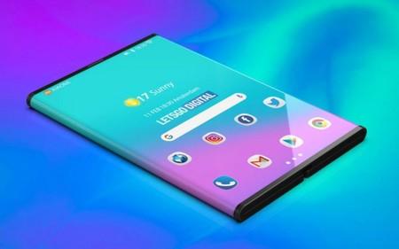 El Xiaomi Mi Flex plegado hacia atrás