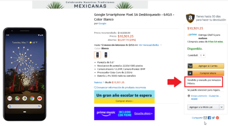 Google Pixel 3a Amazon Mexico Oficial