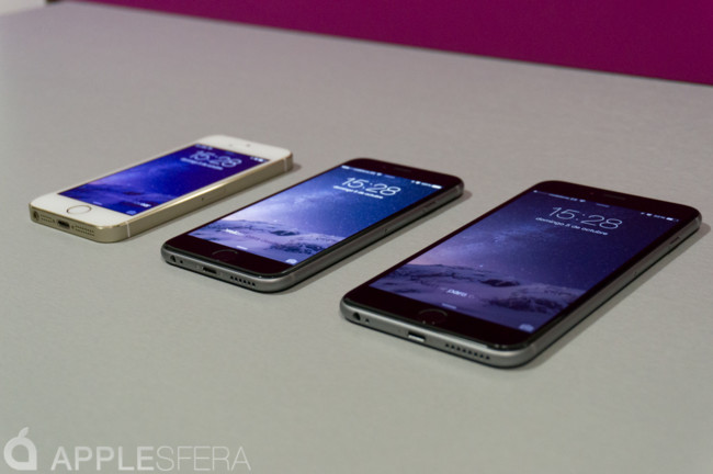 iPhone 5s, iPhone 6, iPhone seis Plus
