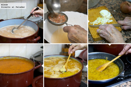Sopa de marisco - receta de Navidad - elaboración