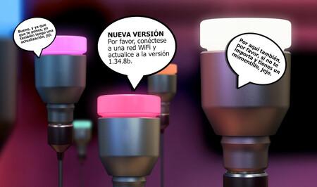 """Hoy, en """"Cosas que nadie me dijo que pasarían en el futuro"""": estoy actualizando el firmware de unas bombillas"""