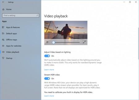 Víde HDR Windows 10
