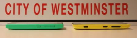 Nokia Lumia 520 y Microsoft Lumia 435 de perfil
